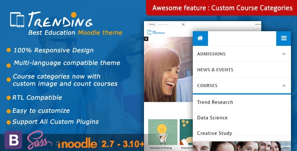 Trending - High Quality Responsive Moodle Theme